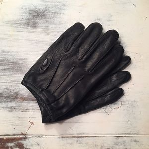 Accessories - Vintage black leather gloves