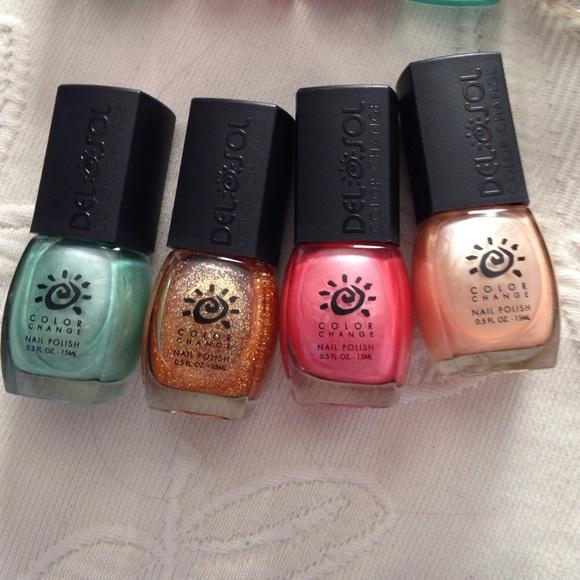 color changing nail polish bundle💗