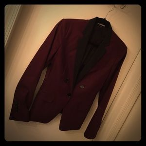 Express Suit Jacket - Egglant & Black - Size 4