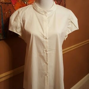 Norma Kamali Tops - NORMA KAMALI White button down blouse XXL  EUC