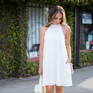 Monday Dress Dresses & Skirts - White Trapeze Scalloped Trim Dress