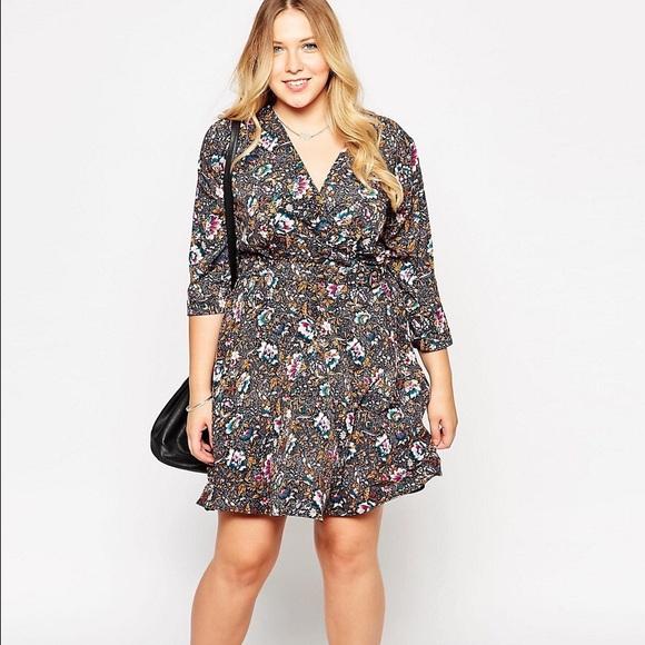 Asos Dresses | Plus Size Yumi Kim Wrap Dress W Floral Print | Poshmark