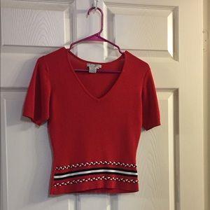 Alberto Makali Sweaters - Red Midriff Blouse