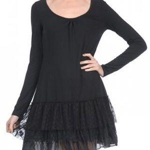 A'REVE Dresses & Skirts - A'REVE | SLIP DRESS LONG SLEEVE BLACK