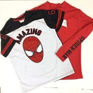 Spiderman Other - 3/$24-BUNDLE SPIDERMAN NEW Lg Jersey T-Shirt Boys