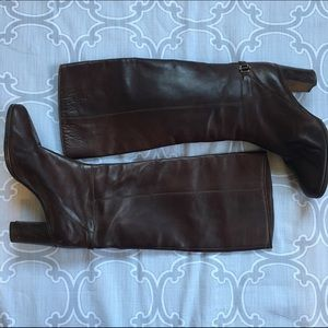 Shoes - Vintage heeled Italian Leather Boots 9.5
