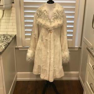 Rachel Zoe fax fur trimmed coat.
