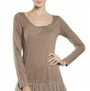 a'reve Dresses & Skirts - a'reve slip dress long sleeve taupe