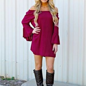 BLU PEPPER | BURGUNDY TUNIC DRESS