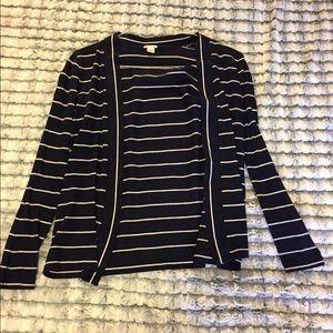 J. Crew Sweaters - Navy Blue/White Striped J. Crew Long Sleeve