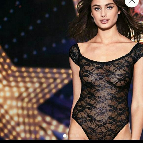 Nwt Victorias Secret Shinly Black Lace Lingerie S  3e2a24850