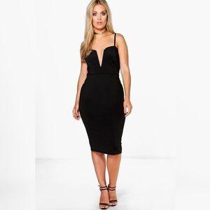 Plus Soraya Plunge Midi Dress