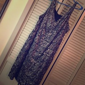Black & silver tiered cocktail dress