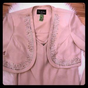SL Fashions Dresses & Skirts - 🅿️Sleeveless dress with embellished jacket
