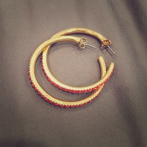 Banana Republic Orange Hoop Earrings