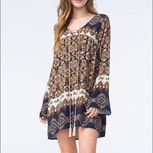 BLU PEPPER | NAVY BOHO TUNIC DRESS
