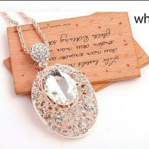 Crystal Moon Necklace Pendant