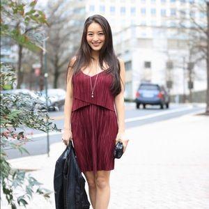 Dresses & Skirts - Red pleated mini dress