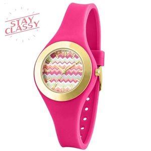 Accessories - Pink Chevron Watch