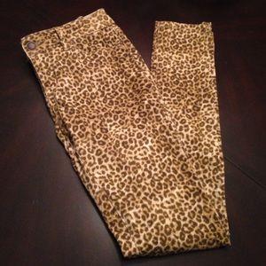 Kardashian Kollection cheetah print Skinny jeans