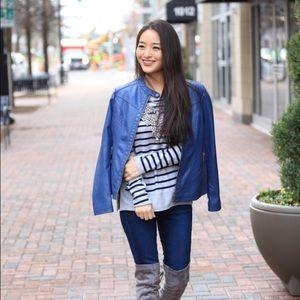 Jackets & Blazers - Brand new with tags! Blue Moto jacket