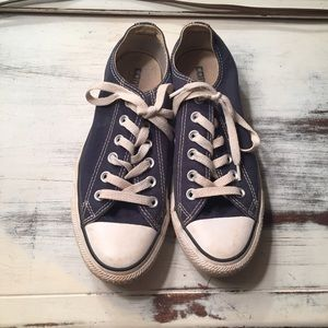 Converse Shoes - Navy Blue Converse All Stars Size 7 wo 5 men