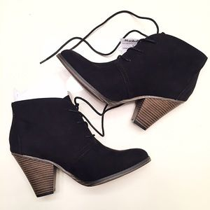 MIA Shoes - NEW black heeled boots women's size 9