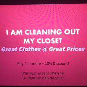 $$$ BUNDLE OFFER SAVE $$$ Closet sale