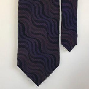 Ermenegildo Zegna Other - 👔ERMENEGILDO ZEGNA silk tie, swirl, dark purple