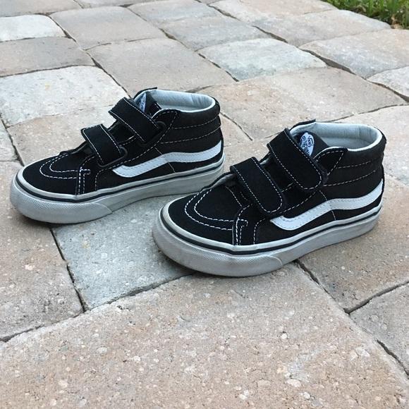 6d7032b9cef High top Velcro Old Skool Vans. M 588e828bf739bc6cad0882c6
