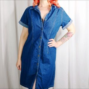 HALF OFF SALE | Denim Button Front Dress