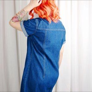 Dresses - HALF OFF SALE | Denim Button Front Dress