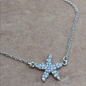 Jewelry - Silver Tone Crystal Starfish Anklet Ankle Bracelet