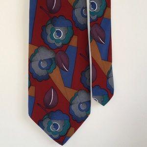 Geoffrey Beene Other - Vintage flower silk tie🌷😍