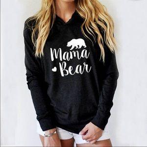 RESTOCKED  Mama Bear Hoodie Tee Top