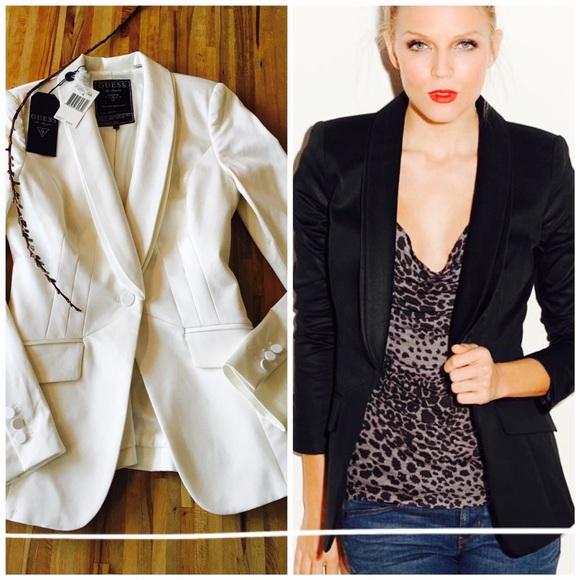 Stati Uniti sporchi online buon servizio rivenditore sporco Guess Jackets & Coats | Sale Boyfriend Tux Blazer Nwt Cream | Poshmark