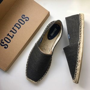 Soludos Other - Soludos Brown Herringbone Twill Slip On Shoes