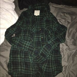 Tops - green flannel