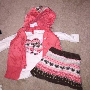 Koala Kids Other - Puffer vest and skirt 3 piece set