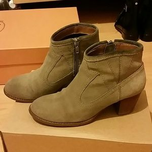 Dolce Vita DV Taupe Suede Booties