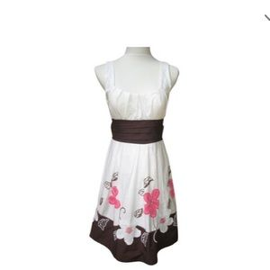 City Triangles Floral  Embroidered Housewife Dress