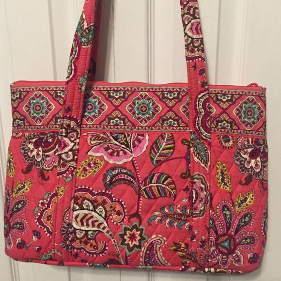 d9cffd8e406a Vera Bradley Call Me Coral Shoulder Bag