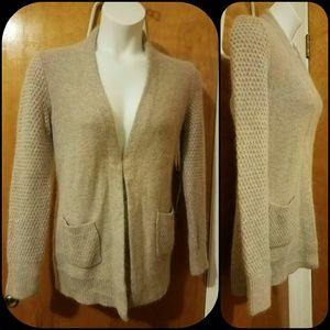 Kenar Sweaters - NWT. Kenar Beige Angora Cardigan
