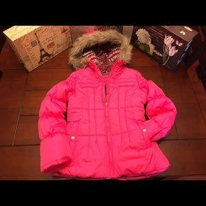 London Fog Other - Girls London Fog Puffer Coat, Pink-Medium