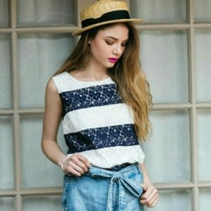 Skies Are Blue Striped Blouse