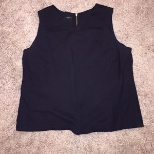 Sleeveless black shirt- great for the office