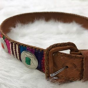 Accessories - Guatamalen Concho Loomed Belt