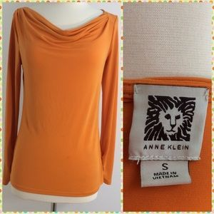 Anne Klein Tops - Anne Klein Orange Top Size Small