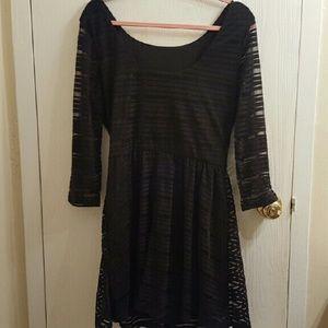 Lily Rose Dresses & Skirts - Black Lily Rose 3/4 Sleeve Dress size XL