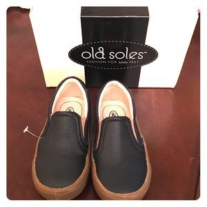 Old Soles Other - Old Soles Boy's Dress Hoff Leather Navy Loafers